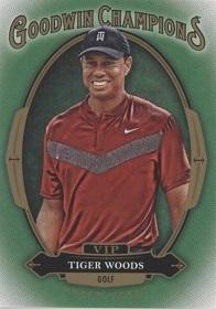 2019 Tarjetas de premio Vip Goodwin Champions #P-2 Tiger Woods EcoTread tarjeta